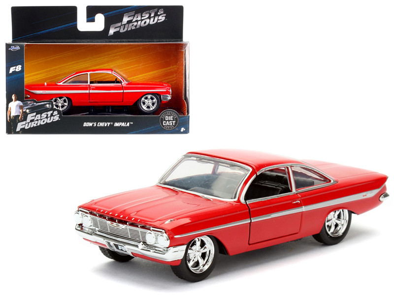 Dom's Chevrolet Impala Red Fast & Furious F8 The Fate of the Furious Movie 1/32 Diecast Model Car Jada 98304