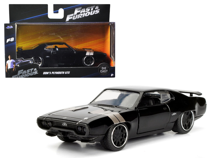 Dom's Plymouth GTX Fast & Furious F8 The Fate of the Furious Movie 1/32 Diecast Model Car Jada 98300