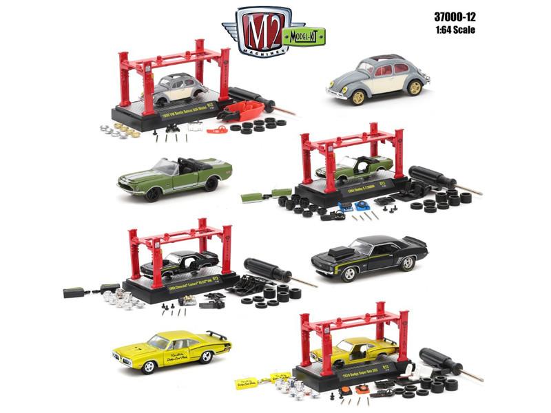 Model Kit 4 Pieces Set Release 12 1/64 Diecast Model Cars M2 Machines 37000-12