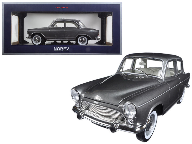 1962 Simca Aronde Montlhery Special Grey Metallic 1/18 Diecast Model Car Norev 185717