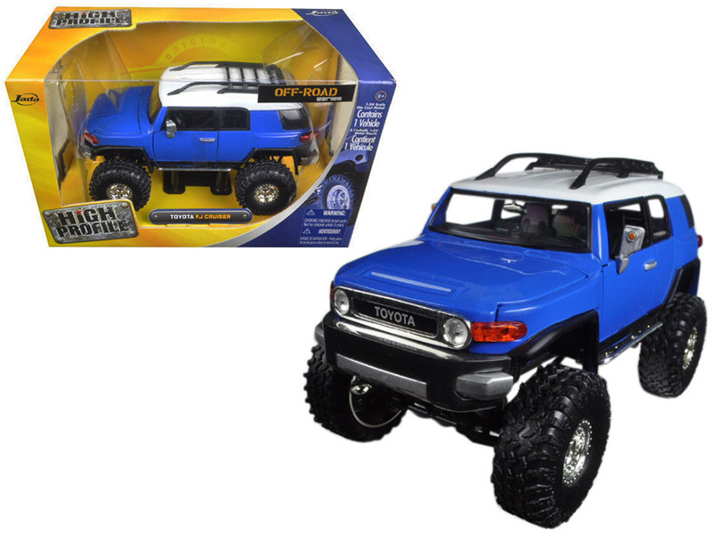 Toyota FJ Cruiser Blue High Profile Off Road Series 1/24 Diecast Model Car by Jada