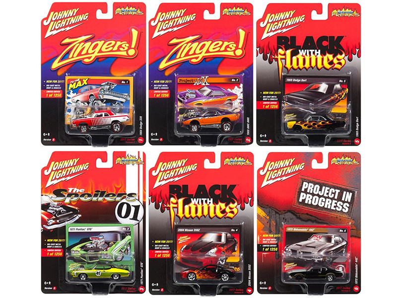 Street Freaks 2017 Release 2A Set of 6 cars 1/64 Diecast Model Cars Johnny Lightning JLSF004 A