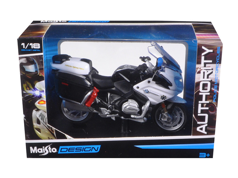 BMW R 1200 RT California Highway Patrol Police Motorcycle Model 1/18 Maisto 32306 CHP