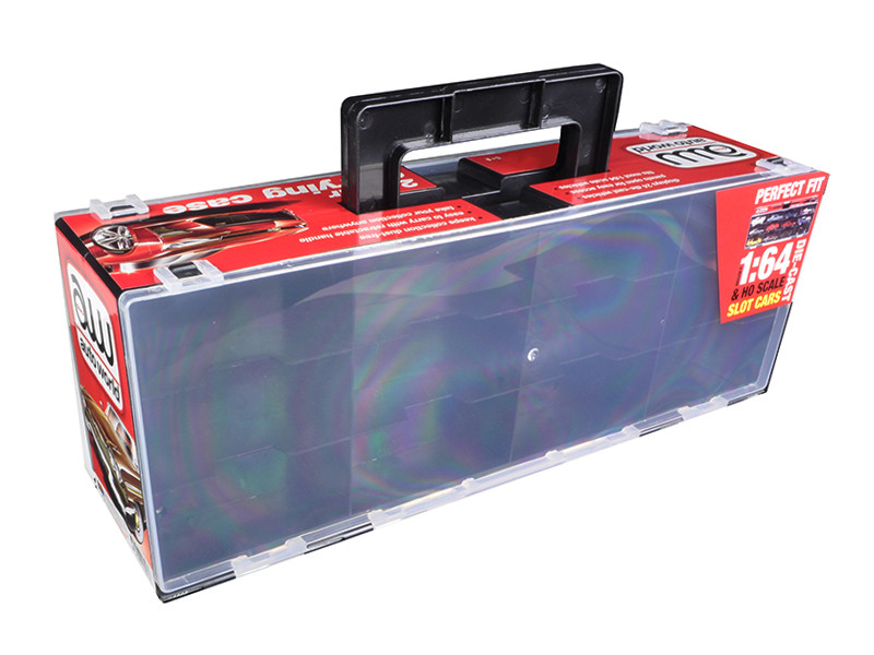 24 Cars Carry Display Case for 1/64 Scale Model Cars Autoworld AWDC006