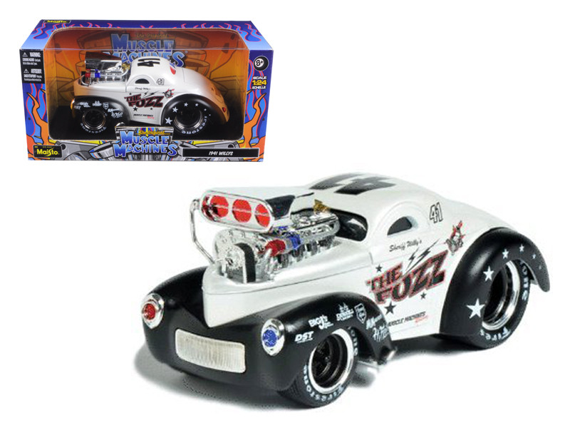 """1941 Willys Coupe Metallic White \Muscle Machines\"""" 1/24 Diecast Model Car by Maisto"""""""""""""""