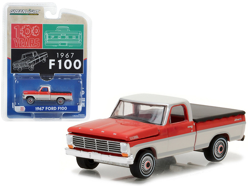 1967 Ford F-100 Pickup Truck with Bed Cover Hobby Exclusive 1/64 Diecast Model Car Greenlight 29862