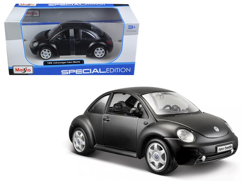 Volkswagen New Beetle Matt Black 1/25 Diecast Model Car Maisto 31975
