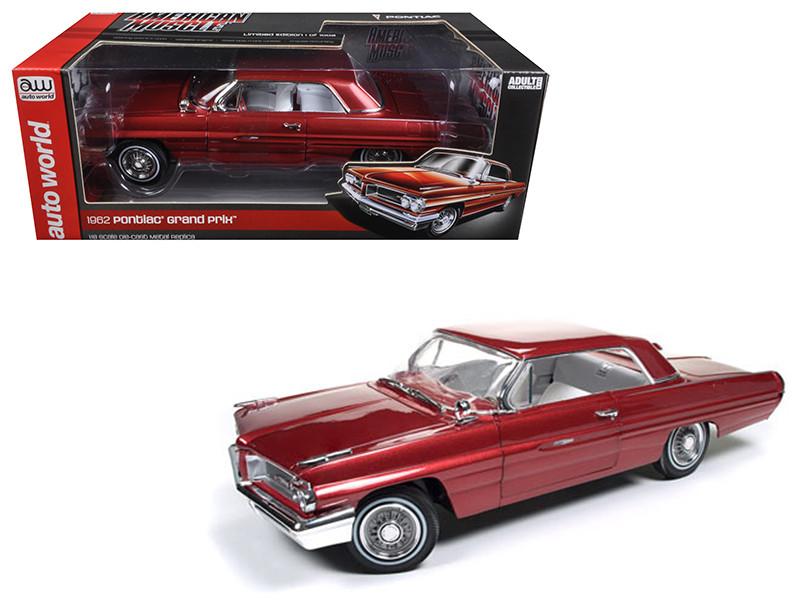 1962 Pontiac Grand Prix Belmar Red Limited Edition to 1002pcs 1/18 Diecast Model Car by Autoworld