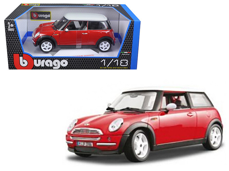 2001 Mini Cooper Red 1/18 Diecast Model Car by Bburago
