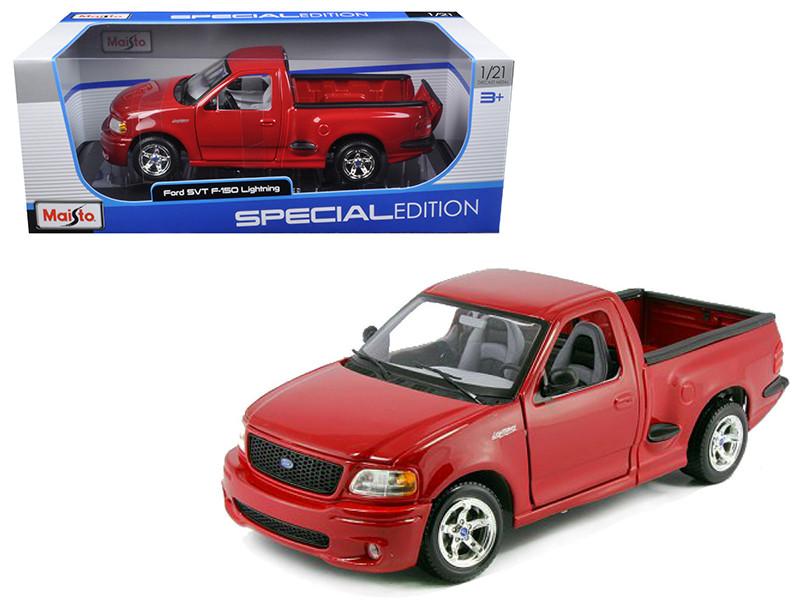 Ford F  Svt Lightning Red Without Surf Boardscast Car Model