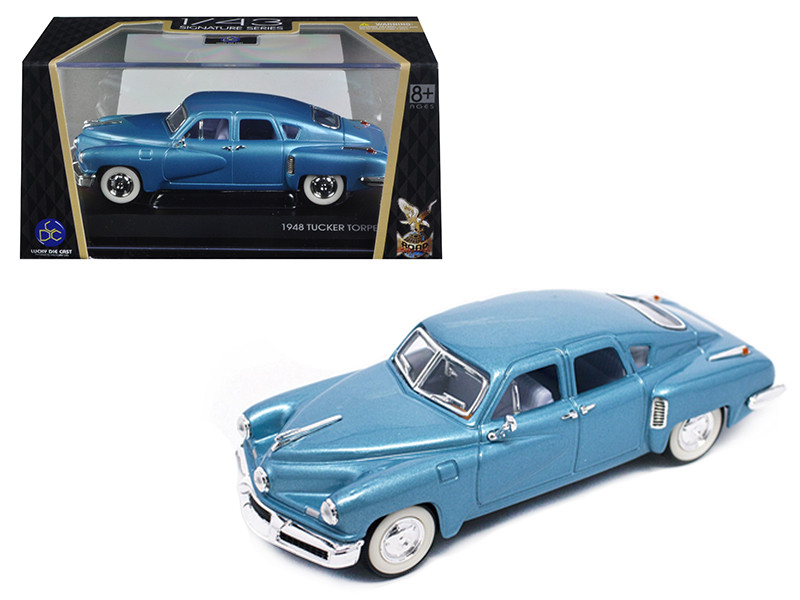 1948 Tucker Light Blue Signature Series 1/43 Diecast Model Car Road Signature 43201
