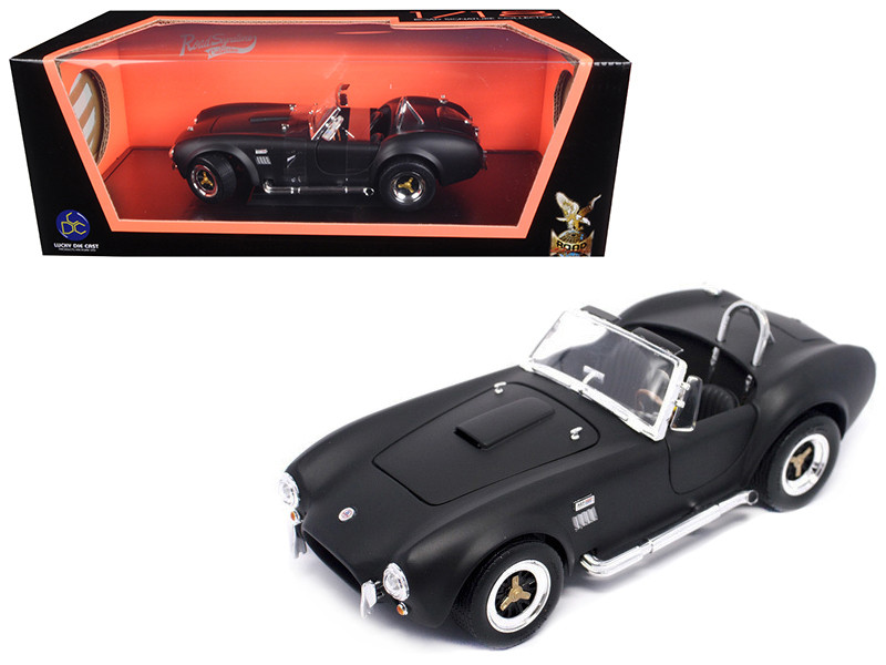 1964 Shelby Cobra 427 S/C Matt Black 1/18 Diecast Model Car Road Signature 92058