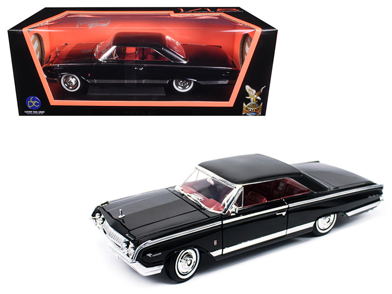1964 Mercury Marauder Black 1/18 Diecast Model Car by Road Signature