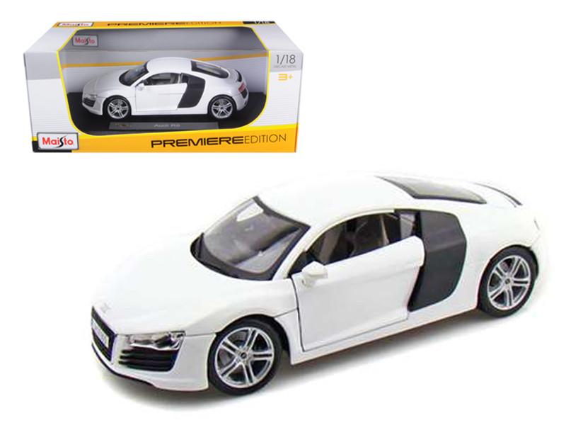 Audi R8 White 1/18 Diecast Model Car Maisto 36143