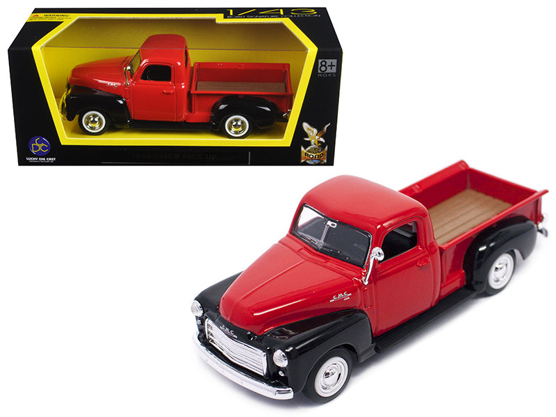 1950 GMC Pickup Truck Red/Black 1/43 Diecast Model Car by Road Signature