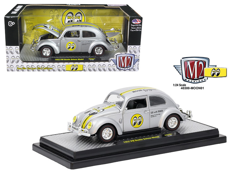 1952 Volkswagen Beetle Deluxe Model Mooneyes 1/24 Diecast Model Car by M2 Machines