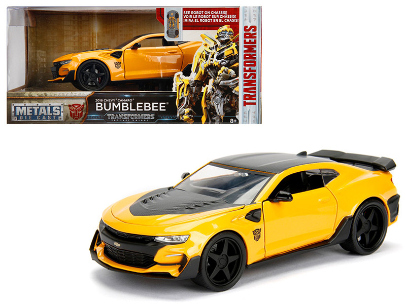 2016 Chevrolet Camaro Bumblebee Yellow From Transformers Movie 1/24 Diecast Model Car Jada Metals 98399