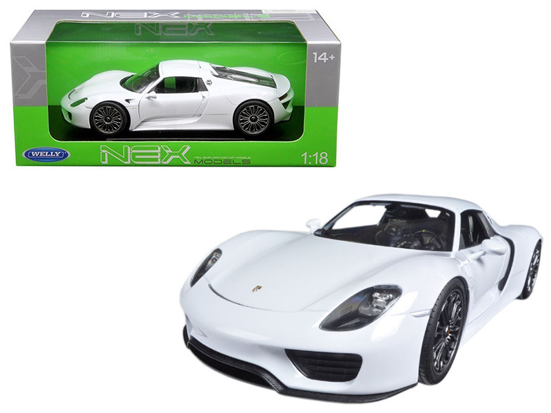diecast model cars wholesale toys dropshipper drop shipping porsche 918 spyder with top white 1. Black Bedroom Furniture Sets. Home Design Ideas