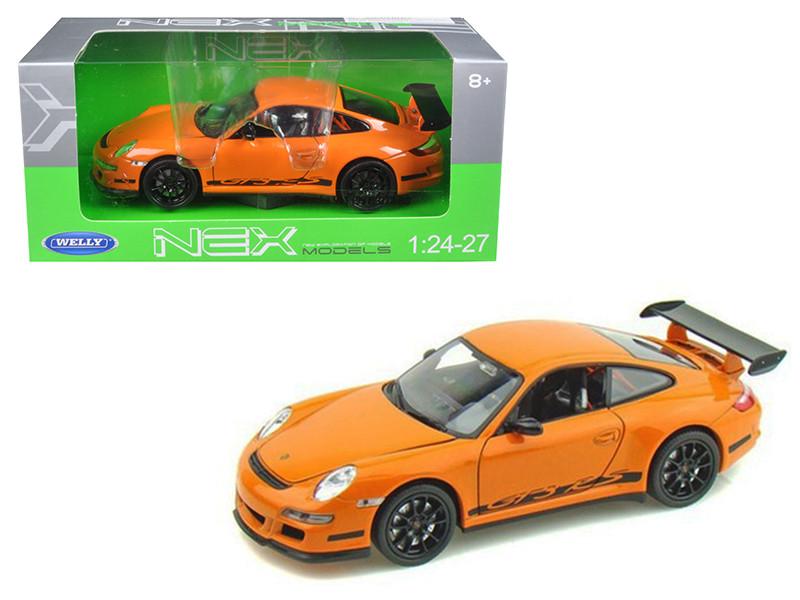 Porsche 911 997 GT3 RS Orange 1/24 Diecast Car Welly 22495