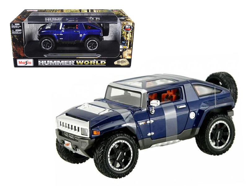 Hummer HX Concept Blue 1/18 Diecast Model Car Maisto 36171