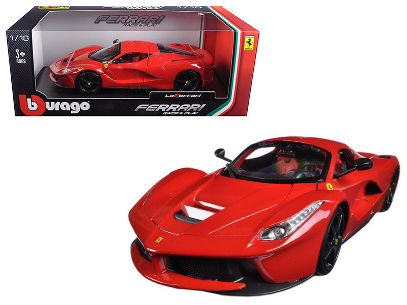 Ferrari LaFerrari F70 Red with Black Wheels 1/18 Diecast Model Car Bburago 16001