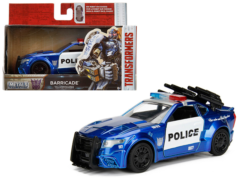 Barricade Custom Police Car From Transformers 5 Movie 1/32 Diecast Model Car Jada 98394