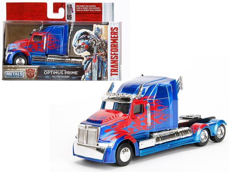 "Western Star 5700 XE Phantom Optimus Prime \Transformers 5\"" Movie 1/32 Diecast Model Car by Jada"""""""
