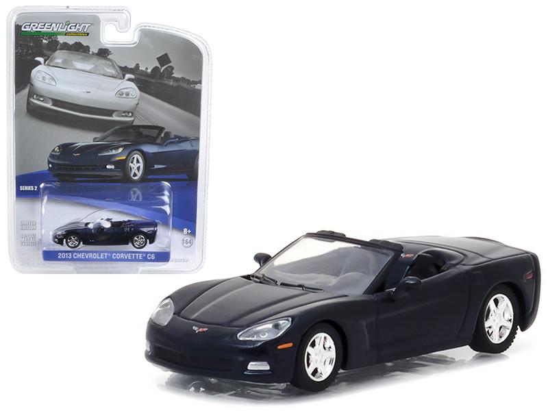 2013 Chevrolet Corvette Convertible Night Race Blue 1/64 Diecast Model Car by Greenlight