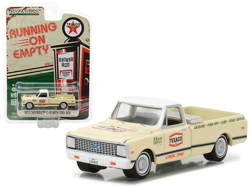 1972 Chevrolet C10 Pickup Truck with Tool Box Texaco 1/64 Diecast Model Car Greenlight 41020 D