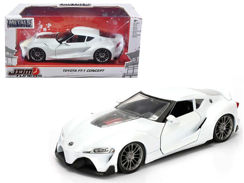 Toyota FT-1 Concept White JDM Tuners 1/24 Diecast Model Car Jada 98780