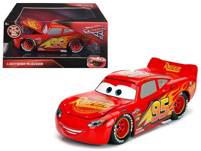Disney Pixar Cars 3 Movie Lightning McQueen Diecast Model Car Jada 98365