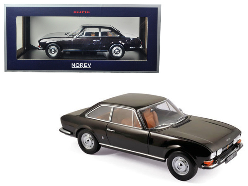 1973 Peugeot 504 Coupe Brown Metallic 1/18 Diecast Model Car Norev 184822