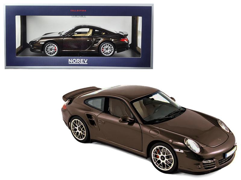 2010 Porsche 911 Turbo Brown Metallic 1/18 Diecast Model Car Norev 187622