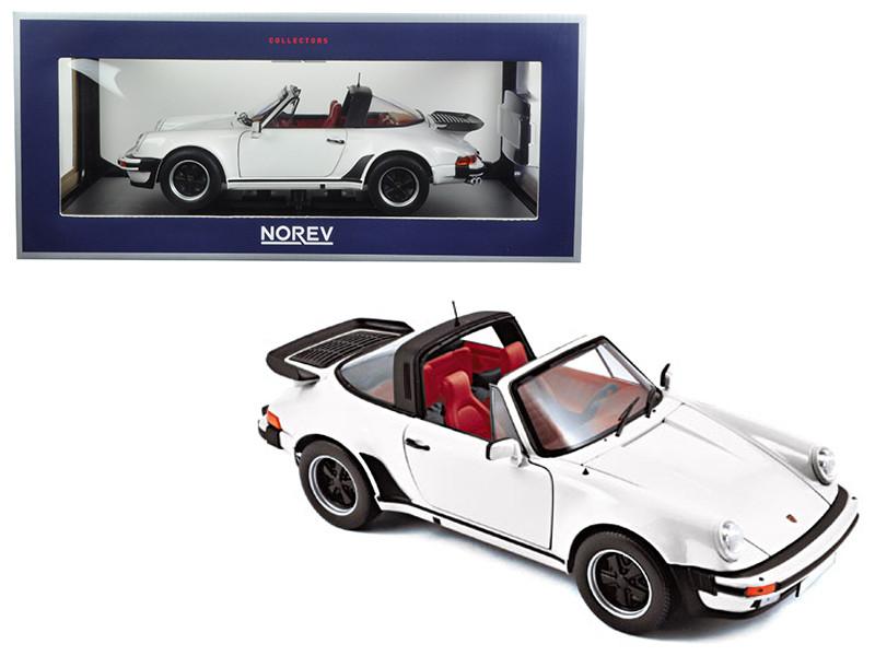1987 Porsche 911 Turbo Targa White 1/18 Diecast Model Car Norev 187660
