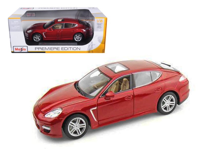 2011 Porsche Panamera Turbo Dark Red 1/18 Diecast Model Car by Maisto