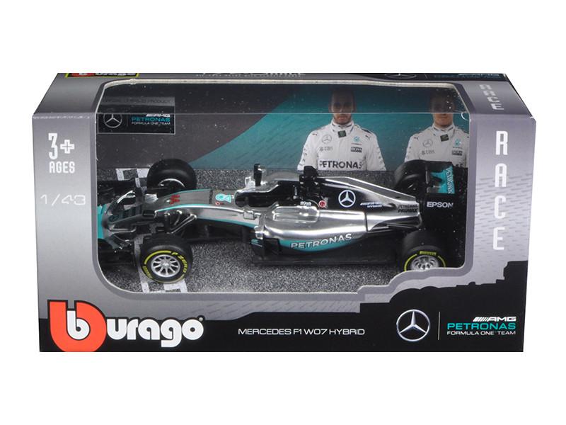 Mercedes AMG Petronas F1 W07 #44 Hybrid Lewis Hamilton F1 Formula 1 Car 1/43 Diecast Model Car by Bburago