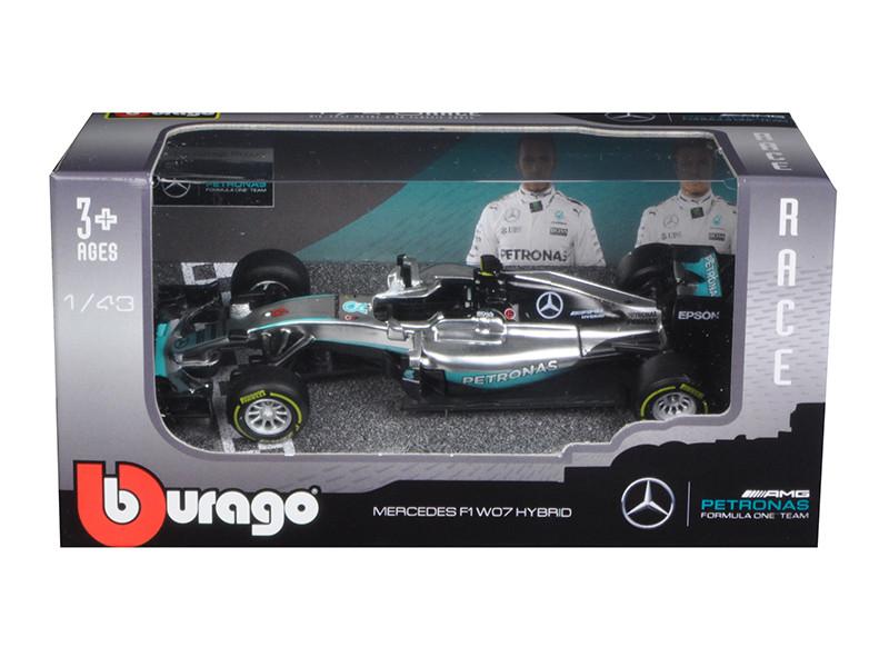 Mercedes AMG Petronas F1 W07 #6 Hybrid Nico Rosberg F1 Formula 1 Car 1/43 Diecast Model Car by Bburago