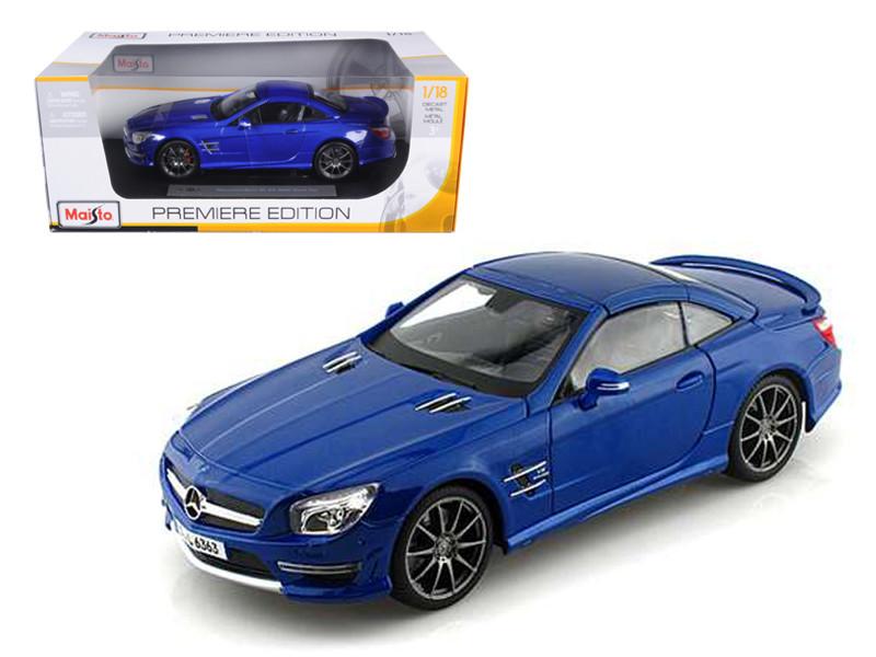 2012 Mercedes SL 63 AMG Blue 1/18 Diecast Car Model by Maisto