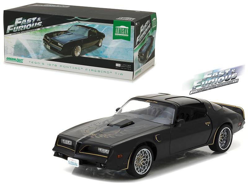 Tego's 1978 Pontiac Firebird Trans Am Fast & Furious 2009 Movie Artisan Collection 1/18 Diecast Model Car Greenlight 19026