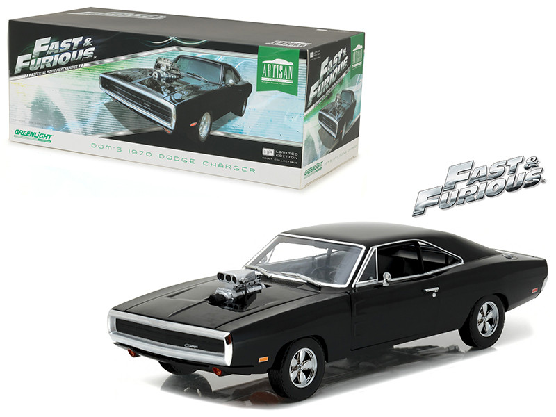Dom's 1970 Dodge Charger The Fast and the Furious 2001 Movie Artisan Collection 1/18 Diecast Model Car Greenlight 19027