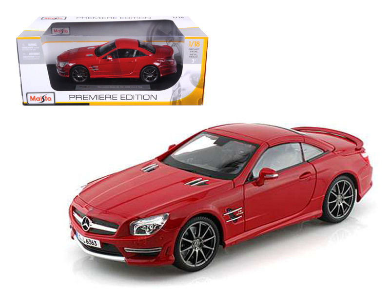 2012 Mercedes SL 63 AMG Red 1/18 Diecast Model Car by Maisto