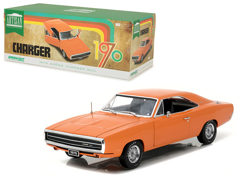 1970 Dodge Charger HEMI Orange Artisan Collection 1/18 Diecast Model Car Greenlight 19028