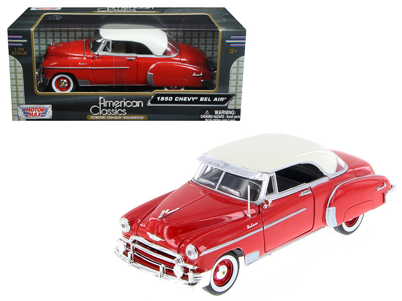 1950 Chevrolet Bel Air Red 1/24 Diecast Car Model Motormax 73268