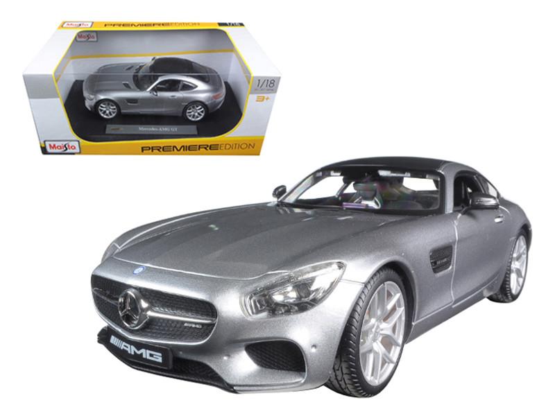 Mercedes AMG GT Silver 1/18 Diecast Model Car by Maisto