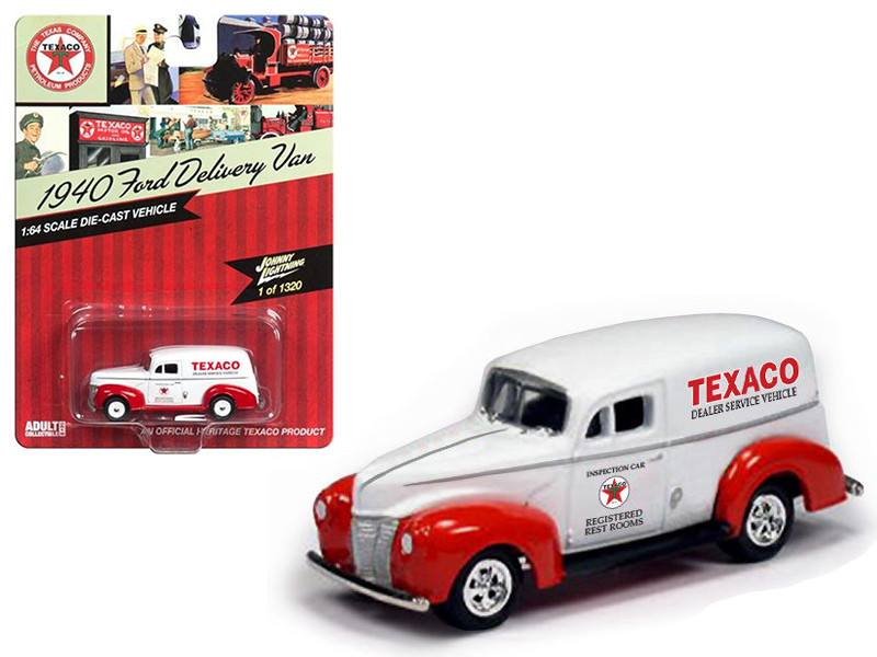 1940 Ford Delivery Van Texaco 1/64 Diecast Model Car Johnny Lightning JLTX001