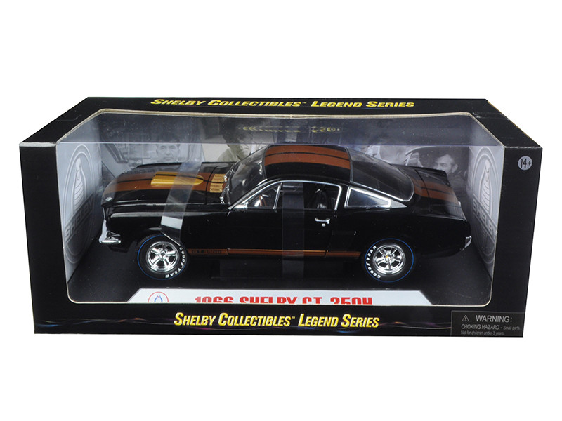 1966 Shelby Mustang GT350H Hertz Black with Racing Wheels 1/18 Diecast Model Car Shelby Collectibles SC360