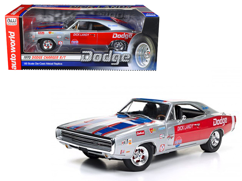 1970 Dodge Charger R/T 426 HEMI Dick Landy Limited Edition to 1002pcs 1/18 Diecast Model Car Autoworld AW238