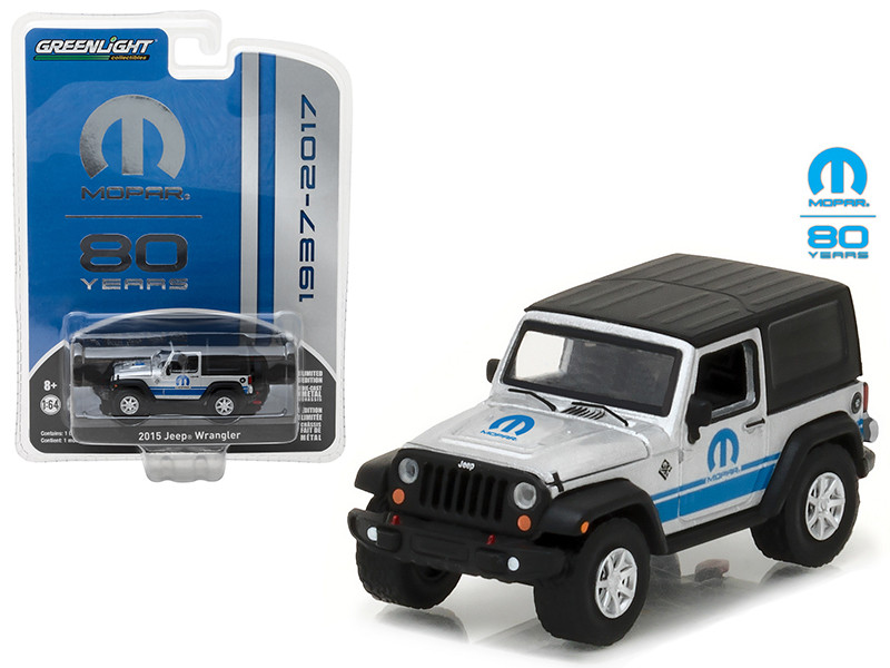 2015 Jeep Wrangler MOPAR 80 Years Anniversary Collection Series 5 1/64 Diecast Model Car Greenlight 27920 D