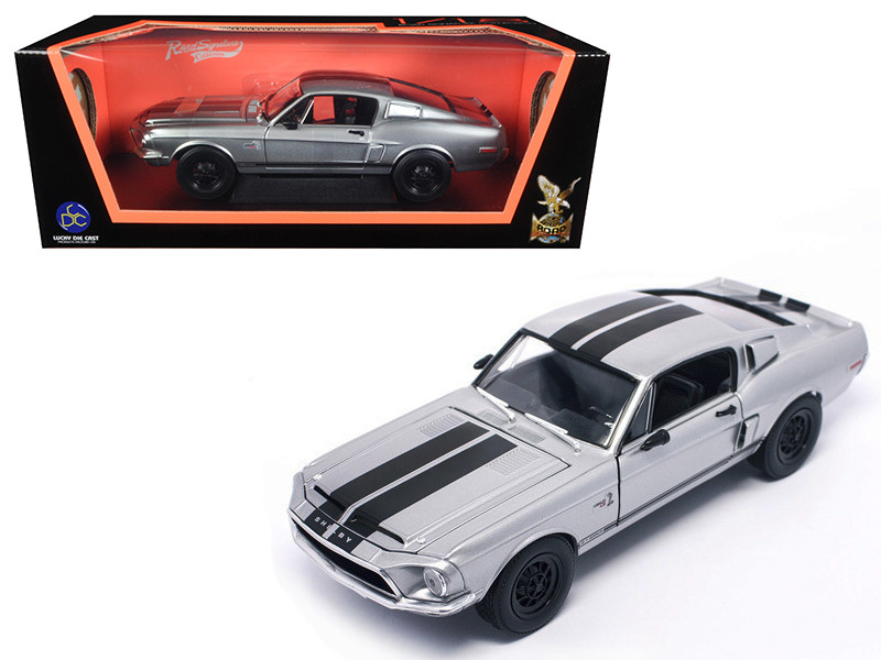 1968 Shelby Mustang GT 500KR Matt Chrome 1/18 Diecast Model Car by Road Signature