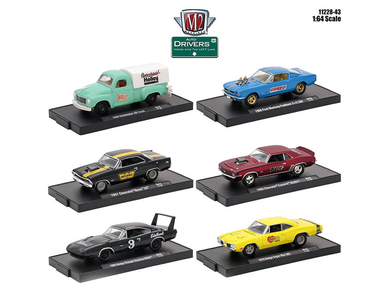 Drivers 6 Cars Set Release 43 In Blister Packs 1/64 Diecast Model Cars M2 Machines 11228-43